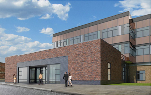 Proposed design for adults and childrens services hub