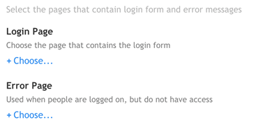 public access login & error