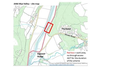 A466 Wye Valley Bank Stabilisation Work Gloucestershire County