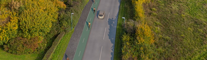 B4063 Gloucester to Cheltenham Cycleway artist impression