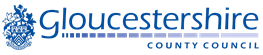 Gloucestershire County Council logo with crest
