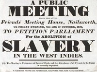 Poster advertising anti slavery meeting at Nailsworth