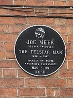 Plaque recording the birth of Joe Meek