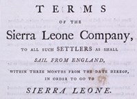Terms of the Sierra Leone Company